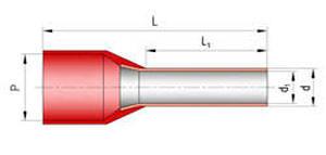 наконечник штыревой втулочный изолированный НШвИ (клеммы)